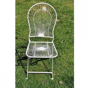 Antibe Ivory Folding Square Chair